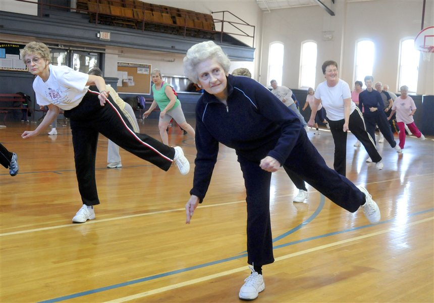 seniors exercising