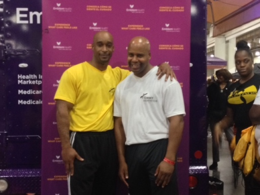 Tommy Mickens & Jay, Managing Director & Professional Trainer at the Health Expo in New York  - October 2013