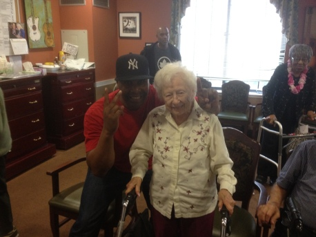 "Our 102-Year Old Client. ""Tommy, thank you for making me feel alive again"" she says."